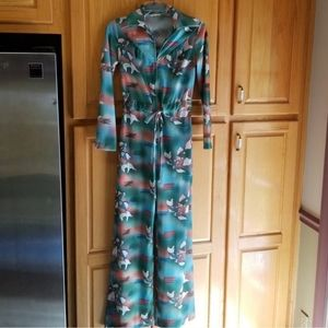 Vintage Gay Gibson Disco Koi Fish Jumpsuit